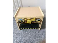 Small wooden digger drawer