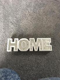 Home light up sign