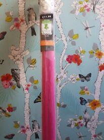 Pink blackout roller blind brand new