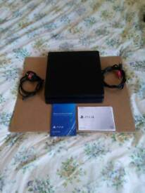 Ps4 playstation console, with mains lead and hdmi lead, instruction books, 4 months old as new
