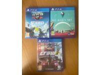3 PlayStation PS4 games