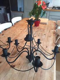 Wrought Iron effect ceiling lights set of 2