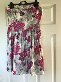Oasis short summer dress size 12 worn once