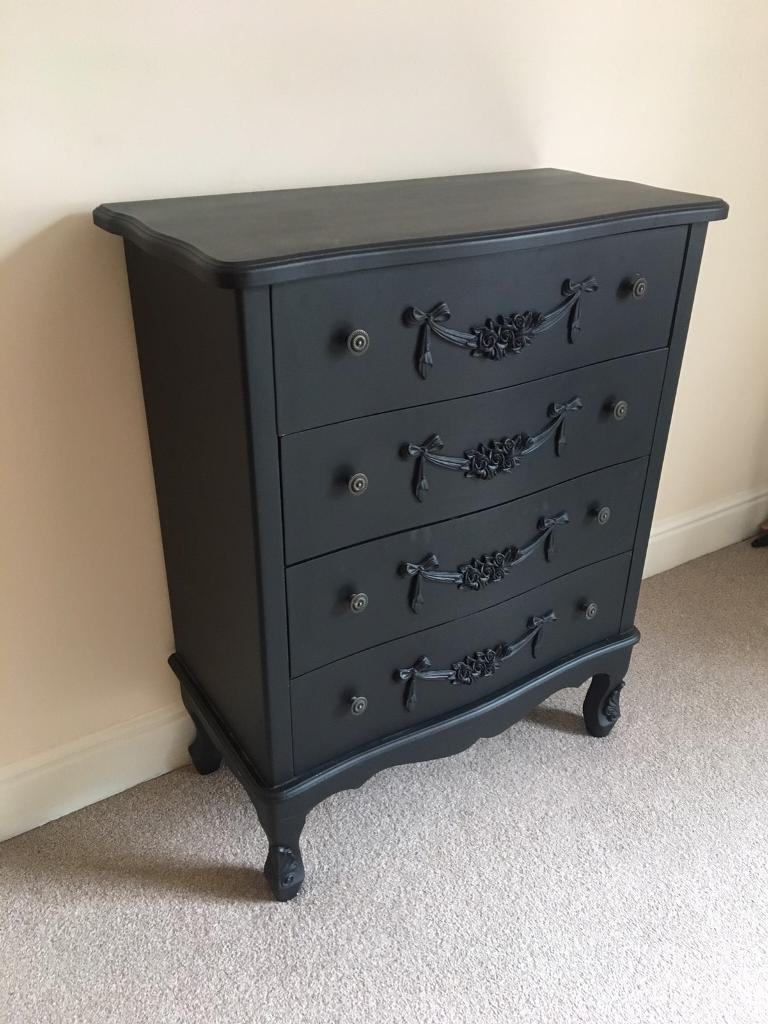 sauder chest orchard hills black products dresser drawer