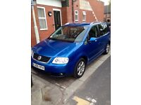 VW TOURAN 2.0TDI DIESEL.BARGINE 7 SEATER...FULL SERVICE HISTORY...2 FORMER KEEPER...DRIVERS PERFECT.