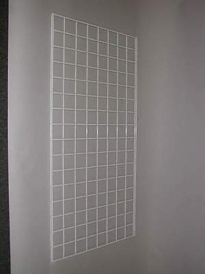 Pack Of Three 2x4 Gridwall Panels White Color
