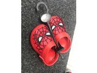 Spider-Man crocs sizes 9-12