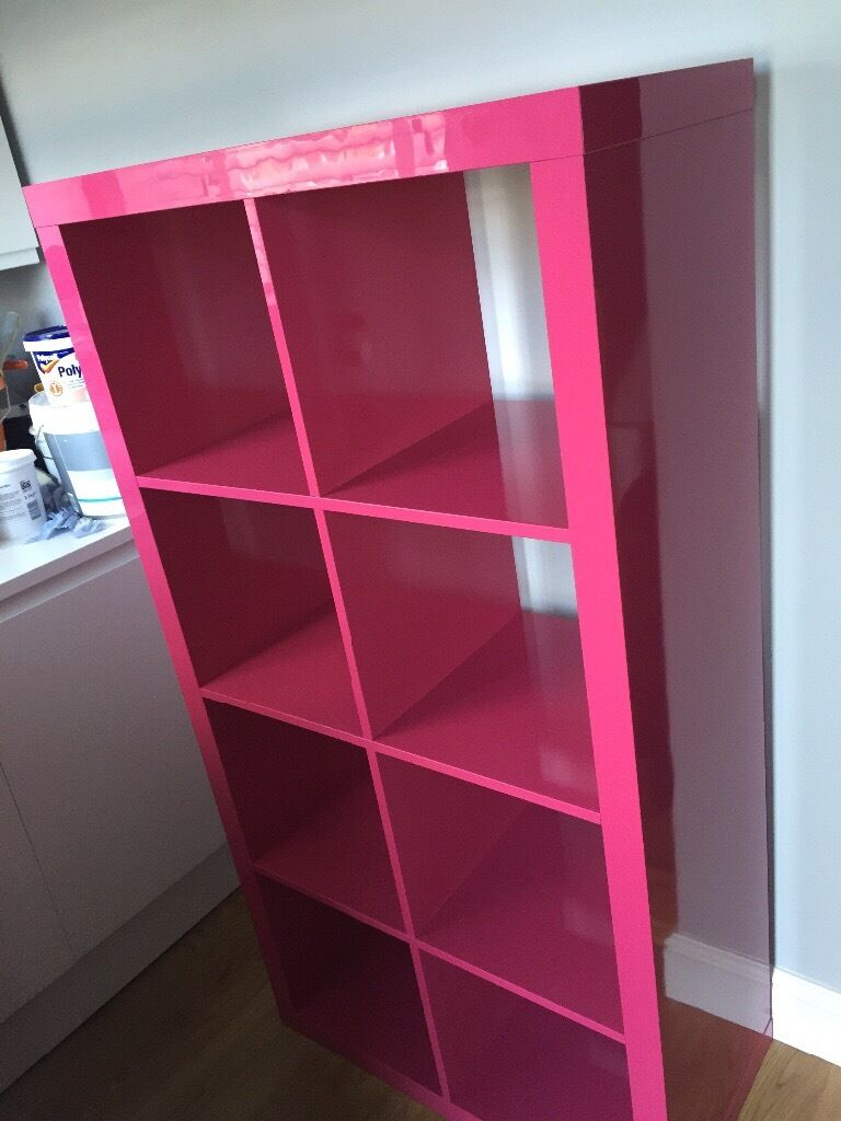 ikea hot pink high gloss expedit storage unit 8 cubes in southampton hampshire gumtree. Black Bedroom Furniture Sets. Home Design Ideas
