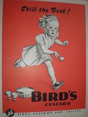 Bird's Custard girl egg and spoon race art advert 1945