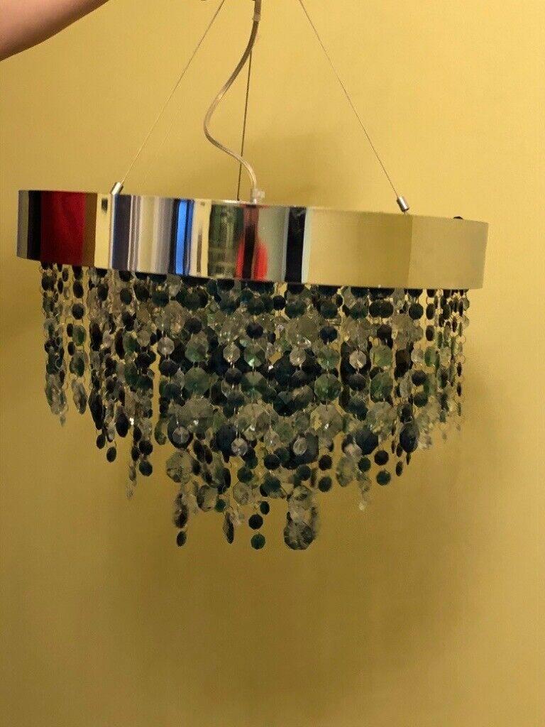 Next Ceiling Light Coloured Crystal Chandelier In Lawford Essex Gumtree