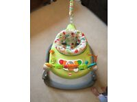 Fisher Price baby bouncer/Jumperoo- excellent condition, as new. Folds flat for easy storage.