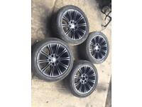 "BMW 5 series 18"" m sport alloys & tyres"
