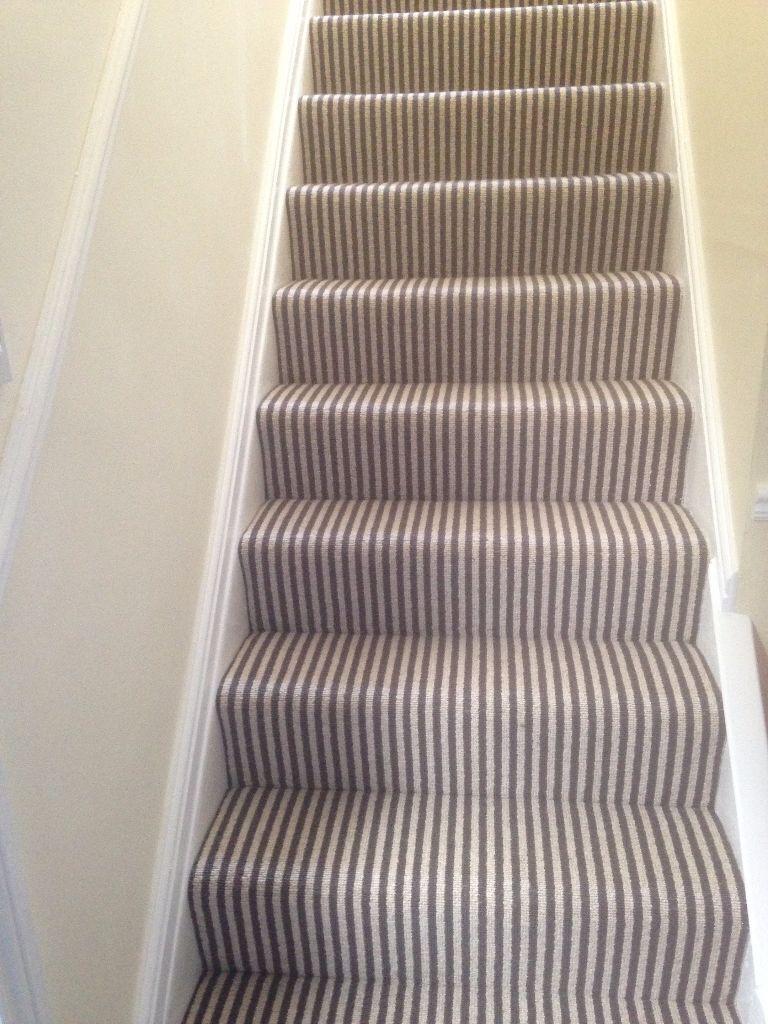 Free Carpet Offcuts Slate Grey Amp Cream Stripe In Ascot
