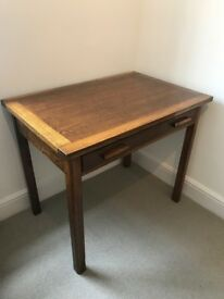 Vintage 1930s-50s Mid Century oak wooden writing desk table very good condition