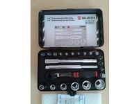 "Wurth Zebra Gen 1/4"" socket wrench assortment, mini 23 PC Workshop Tool Set Car FREE LOCAL DELIVERY"