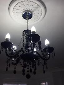 Black chandelier 5 spoke.