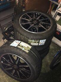 WOLFRACE Alloy Wheels - Brand New Multi fit