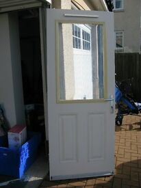 Composite Half Double Glazed Exterior Door with Multi Point Locking System