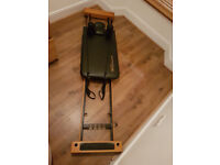 Pilates Machine with rebounder, excellent quality, very good condition, 4 tension straps, folds away
