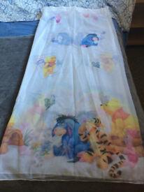 Kids bedroom curtain net winnie the pooh theme