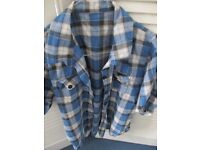 Ladies blue checkered shirt - Size 10
