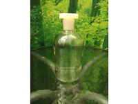 glass reagent chemistry bottle with plastic stopper-Brand new