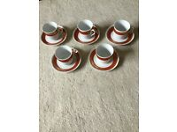 Titov Veles porcelain cups and saucers