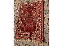 Eastern red prayer rug