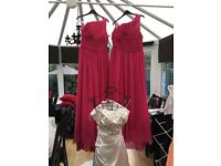 Brand new wedding dress and x2 new bridesmaids dresses