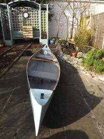 "12'6"" Canadian Canoe Blue"