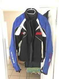 Retro IXS Motorcycle Bike Biker Jacket - XL