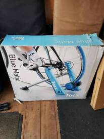 Blue matic cycle trainer