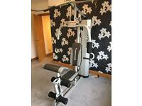 Maximuscle multigym with Reebok bench and 30k York weights , bar and dumb bells