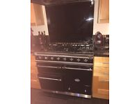 Lacanche Cooker Black Lacanche Cooker. 3 ovens & 5 glass rings + Griddle Pan