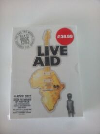 Brand New, Unused, Still Sealed, Live Aid 4 DVD Box Set