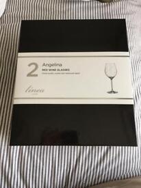 Linea Angelina Red Wine Glasses x 2