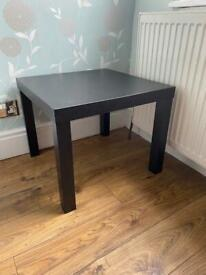 Black side table / coffee table (Ikea lack)
