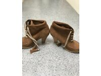 Beautiful brand new suede ankle boots 5.5 new with tags Marks and Spencer