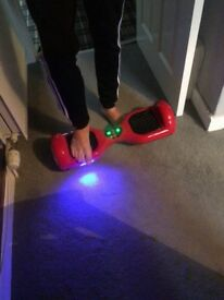Red Segway hoover board
