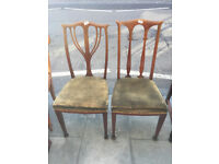 2 x Chairs in solid condition, would look great re upholstered. £40 each