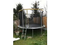 12ft Trampoline with safety net and ladder