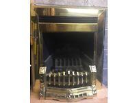 Brass Inset Gas Fire