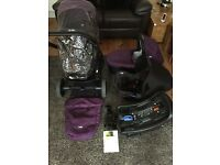 * PRICE REDUCTION* Joie chrome travel system and Joie car seat / pushchair / stroller / buggy