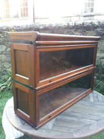 RARE ANTIQUE GLOBE WERNICKE STACKING MODULAR BARRISTERS LAWYERS BOOKCASE