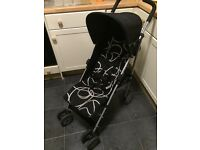 umbrella fold buggy / stroller / pram. comes with hood and shopping basket. withywood