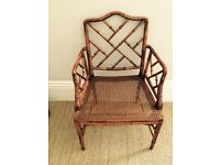 Antique American Wingback chair with cane