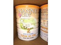 4 x 900g of nanny care goats milk formula stage 2