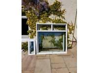 2 x white upvc windows. 1620w x 1650h