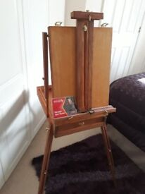 Reeves wooden adjustable easel plus accessories