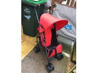 Silver Cross pop pushchair with rain cover